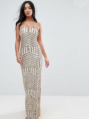 TFNC Petite Bandeau Sequin Maxi Dress