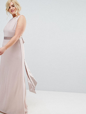 TFNC Plus WEDDING Sateen Bow Back Maxi Dress