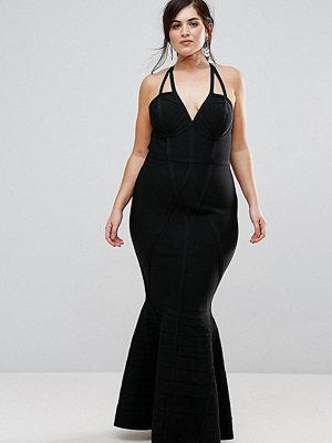 ASOS Curve Premium Bandage High Apex Maxi Dress