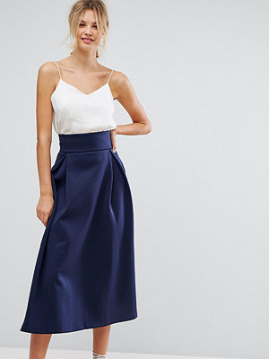 Asos Tall High Waisted Scuba Midaxi Prom Skirt