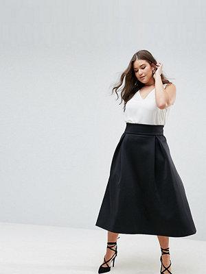 ASOS Curve High Waisted Scuba Midaxi Prom Skirt