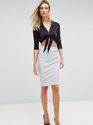 Asos Tall High Waisted Pencil Skirt - Grey