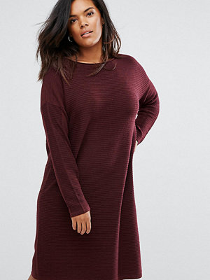 ASOS Curve Jumper Dress In Ripple Stitch