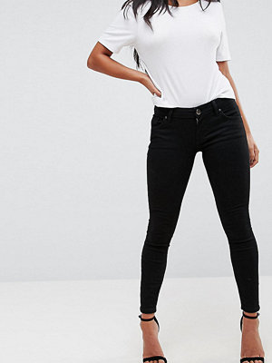 ASOS Petite Whitby Low Rise Skinny Jeans In Clean Black