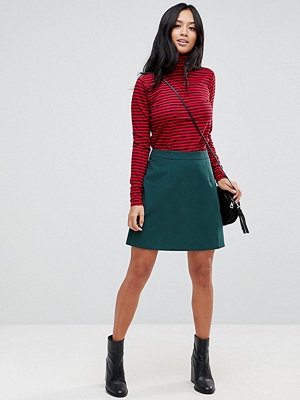 ASOS Petite Tailored A-Line Mini Skirt - Forest green