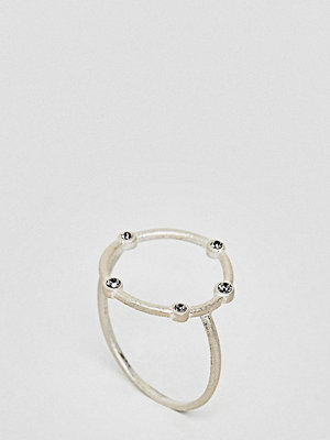 Dogeared Sterling Silver Infinity & One Halo Circle Ring