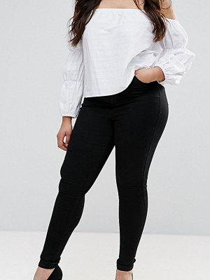ASOS Curve 'Sculpt me' premium jeans i svart