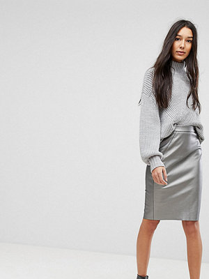 Vero Moda Tall Metallic Pencil Skirt