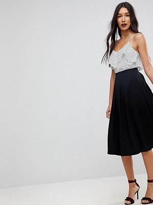 Asos Tall ASOS DESIGN Tall midi skirt with box pleats