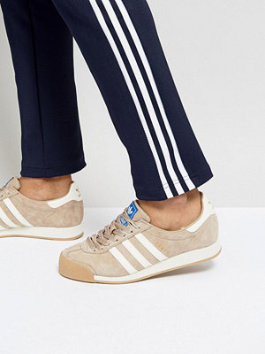 Adidas Originals Samoa Vintage Trainers In Tan BY4132
