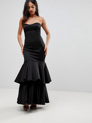 Club L Bandeau Tulle Layer Prom Maxi Dress
