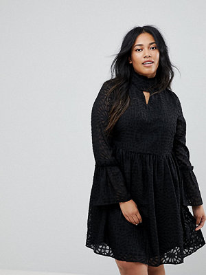 Lost Ink Plus Mini Dress With Choker Detail
