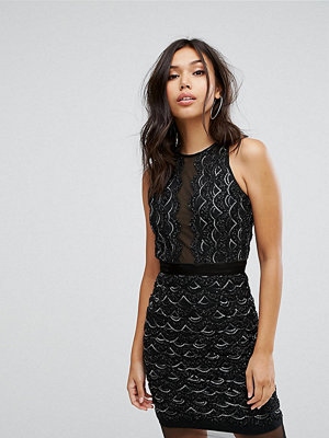 TFNC High Neck Mini Scallop Sequin Dress
