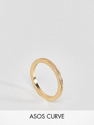 ASOS Curve Exclusive Textured Pinky Ring