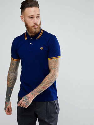 Pikétröjor - PS Paul Smith Slim Fit Twin Tipped PS Logo Polo Shirt in Blue