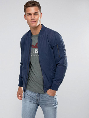 Bomberjackor - Hollister Twill Bomber in Navy