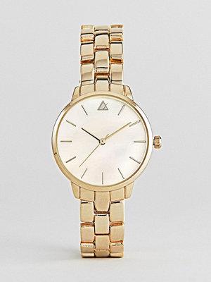 Klockor - ASOS Premium Pearlized Metal Boyfriend Watch