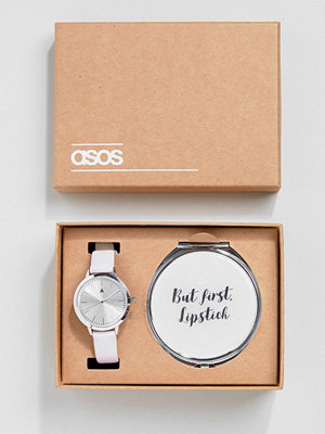 Klockor - ASOS Compact Beauty Mirror and Watch Gift Set