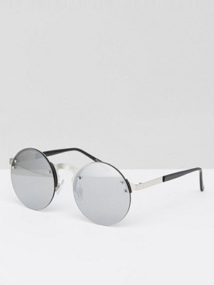 Solglasögon - Jeepers Peepers Round Sunglasses In Silver