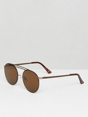 Solglasögon - Jeepers Peepers Round Sunglasses In Brown