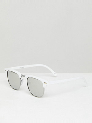 Solglasögon - Jeepers Peepers Retro Sunglasses In Silver/White