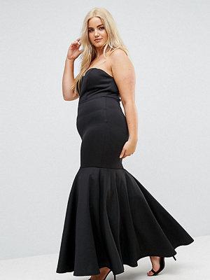 Club L Plus Bandeau Maxi Dress With Fishtail Skirt