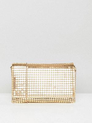 ASOS kuvertväska Oversize Matte Chainmail Foldover Clutch Bag
