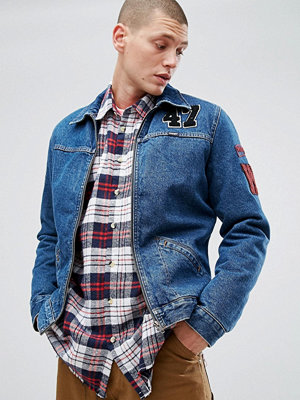 Jeansjackor - Wrangler Hawkins Mid Stone Borg Lined Denim Jacket