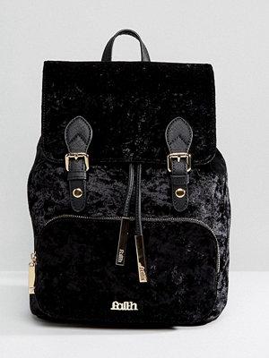 Faith ryggsäck Velvet Double Buckle Backpack