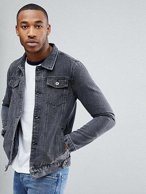 Jeansjackor - Liquor N Poker Denim Jacket Washed Black
