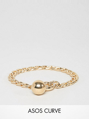 ASOS Curve armband Chain and Ball Charm Bracelet