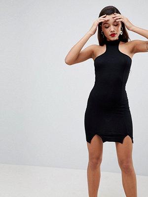 ASOS Choker Neck Mini Bodycon Dress with Splits