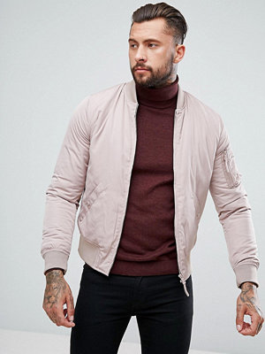 Bomberjackor - New Look Bomber Jacket With MA1 Pocket In Light Pink