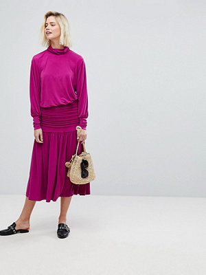 Warehouse Ruched Midi Skirt