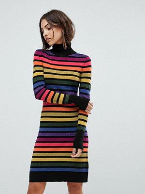 Warehouse Rainbow Sparkle Stripe Jumper Dress