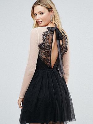 Asos Tall PREMIUM Sheer Top Tulle Mini Prom Dress