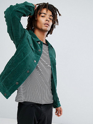ASOS Cord Jacket in Bottle Green