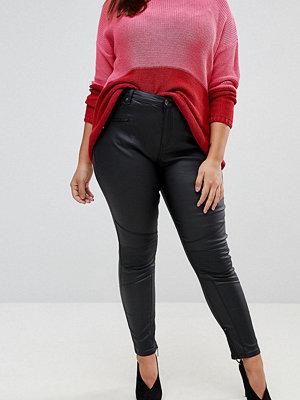 Simply Be Chloe Coated Biker Skinny Jeans