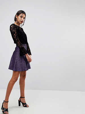 Warehouse Sparkle Mini Skirt