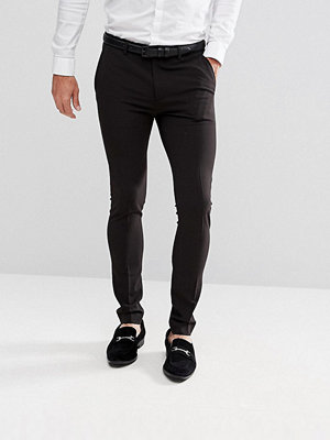 ASOS Extreme Super Skinny Smart Trousers in Black