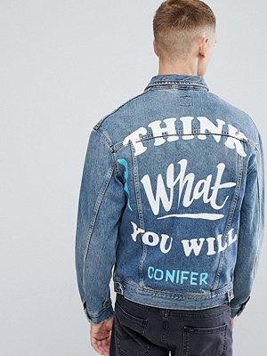 Jeansjackor - Lee X Conifer Oversized Rider Denim Jacket