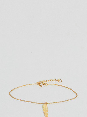 ASOS armband Gold Plated Sterling Silver Feather Charm Bracelet