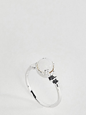 ASOS Sterling Silver Vintage Style Moonstone Pinky Ring