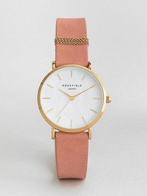 Klockor - Rosefield West Village Leather Watch In Pink 33mm