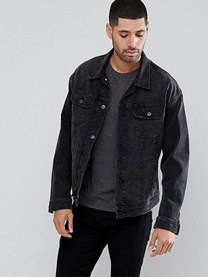 Jeansjackor - Lee Rider Oversized Denim Washed Black Jacket