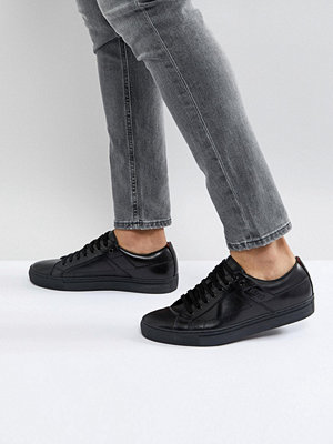 Sneakers & streetskor - Hugo by Hugo Boss Futurism Leather Lace Up Trainers in Black