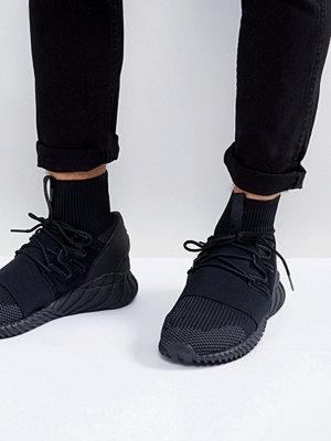 Sneakers & streetskor - Adidas Originals Tubular Doom Primeknit Trainers In Black DA9023