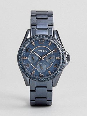 Klockor - Fossil ES4294 Riley Bracelet Watch In Blue