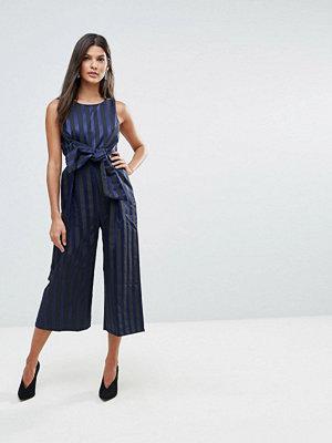 Closet London Closet Jumpsuit i culottemodell med rand och rosettdetalj