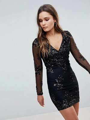 Parisian Lace And Sequin Shift Dress
